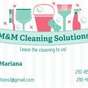 M&m Cleaning Solutions Logo