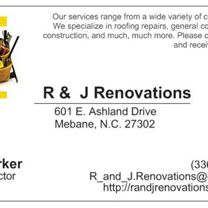 R & J Renovations Logo