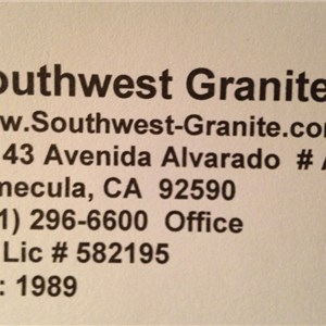 Southwest Granite Cover Photo