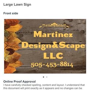 Martinez Design & Scape Logo