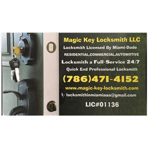 Magic key locksmith LLC Logo