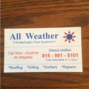 All Weather Roofing Cover Photo