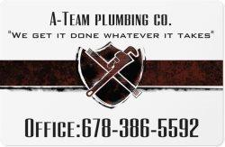 A-Team Plumbing co. Logo