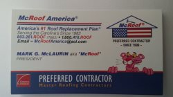 Mcroof America by Mcbuilt Construction Logo