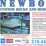 Newbolt Custom Decks and Remodeling Logo