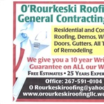 Orourkeski Roofing & General Contracting LLC Logo