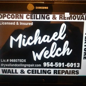Michael Welch Drywall Logo