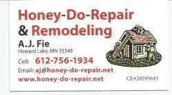 Honey-do-repair & Remodeling Logo