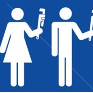 His and Her Plumbing Logo