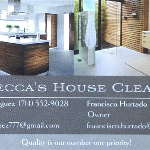 Rebeccas House Cleaning Service Logo