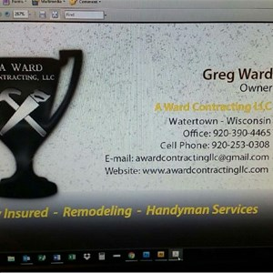 A Ward Contracting LLC Cover Photo