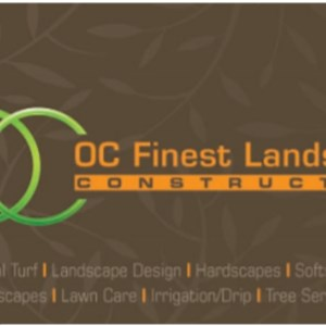OC FINEST LANDSCAPE CONSTRUCTION Logo