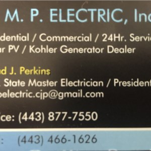 A. M. P.  Electric, Inc. Logo
