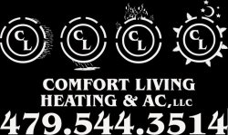 Comfort Living Heating & Air Conditioning Logo