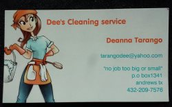 Dees Cleaning Service Logo