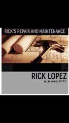 Ricks Repair & Maintenance Logo