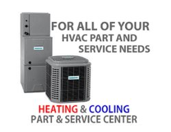 Heating and Cooling Part and Service Center Logo