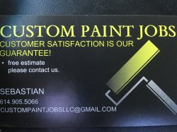 Custom paint jobs LLc Logo