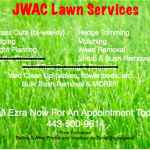 Lawn Services in Randallstown by Jwac Cover Photo