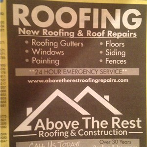 Above the rest roofing and construction Logo