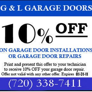 G and L Garage Doors LLC Logo
