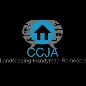 CCJA LANDSCAPING. HANDYMAN & REMODELING Logo