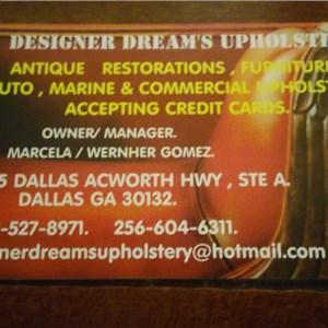 Designer Dreams Upholstery Logo