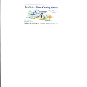 Two Sisters House Cleaning Service Logo