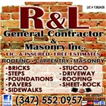 R & L General Contractors & Masonry Inc Logo