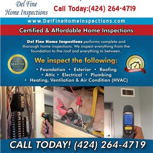 Del Fine Home Inspections Logo