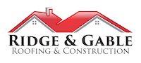 Ridge & Gable Roofing & Construction Logo