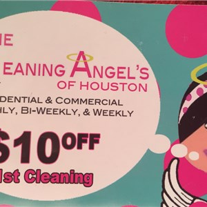 The cleaning Angels of houston Logo
