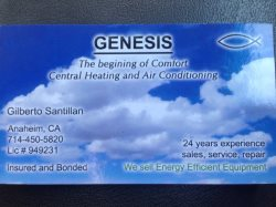 Genesis Heating And Air Conditioning Logo