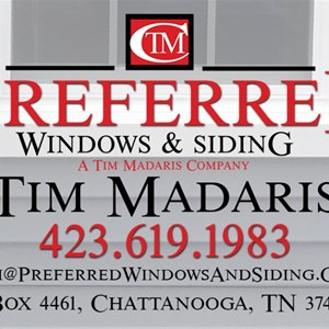 Preferred Windows & Siding A Tim Madaris Company Logo