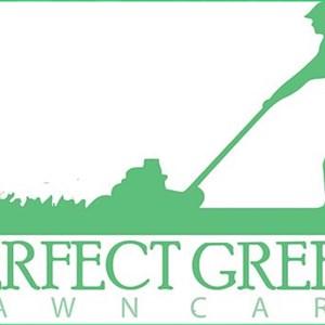 Perfect Green Lawn Care Logo