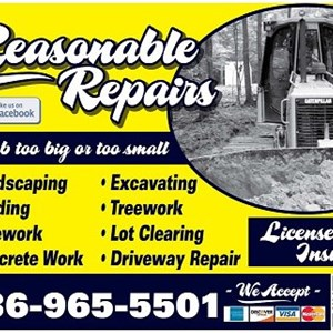 Reasonable Repairs-landscaping,grading,& Pipework Logo