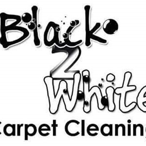 Black2white Carpet Cleaning Logo