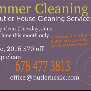 Butler House Cleaning Service Logo