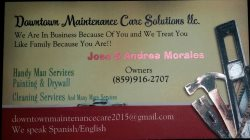 Downtown Maintenance Care Solutions Logo
