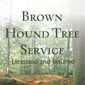 Brown Hound Tree Service Logo