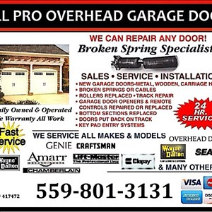 All Pro Overhead Garage Doors Logo