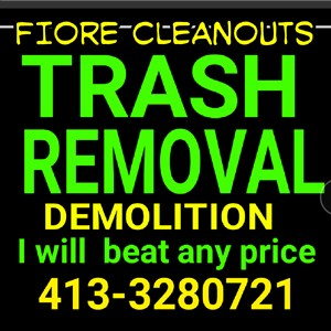 Fiore Cleanouts Trash, Junk Removal And Demolition Logo