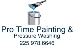 Pro Time Painting & Outdoor Services Logo