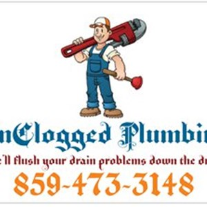 Unclogged Plumbing Logo