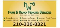 Hw6 Farm & Ranch Fencing Services Logo
