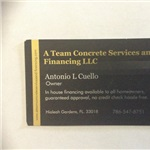A Team Concrete Services and Financing LLC Logo