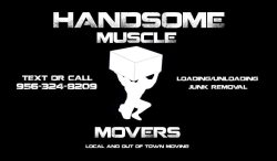 Handsome Muscle Movers Logo