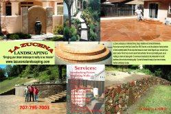 LA ZUCENA, Concrete and Landscaping Logo