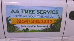 A A Tree Service Logo