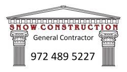 Snow Construction Logo